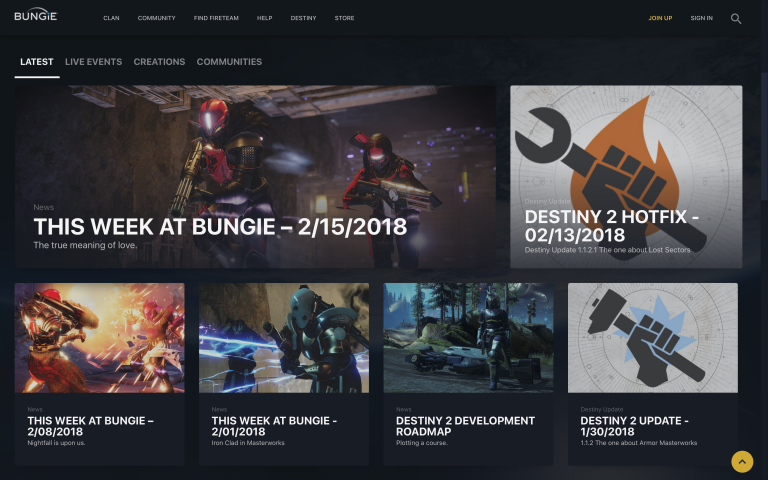 Click to go to the official Bungie website